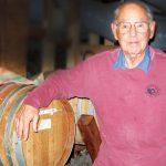 Dr. Schrier in his wine cellar