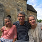 Dr. Platzbecker with his daughters on a vacation in France.